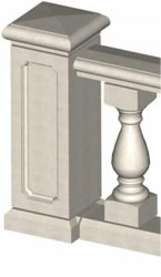 Standard Newel Pier Connection