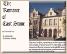 The Romance of Cast Stone